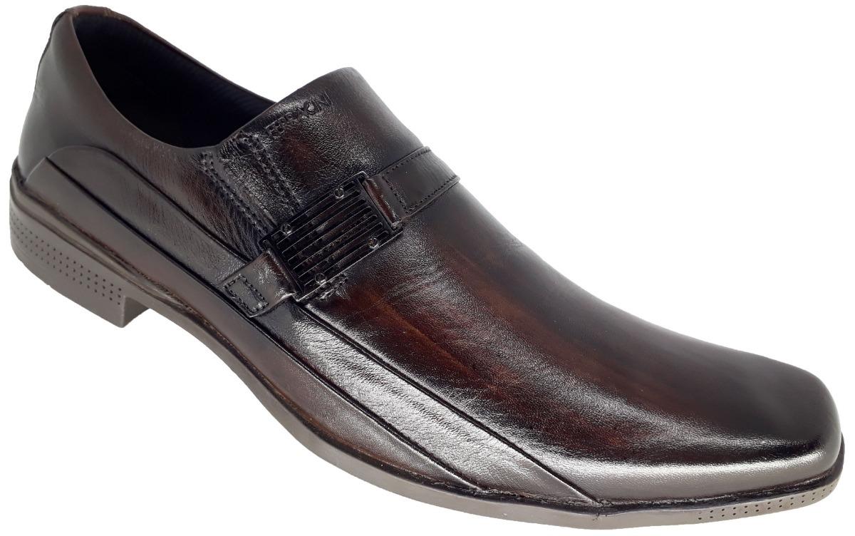 7795fc493b sapato social masculino em couro ferracini cafe 4347-223g. Carregando zoom.