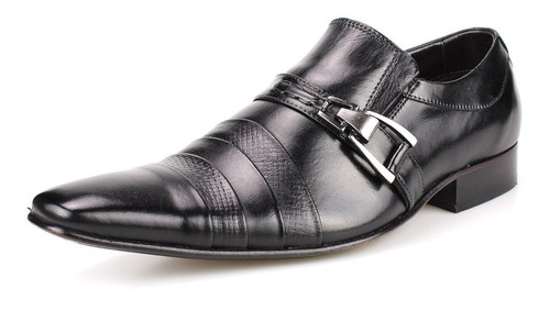 sapato social masculino em couro legítimo estilo italy luxo!
