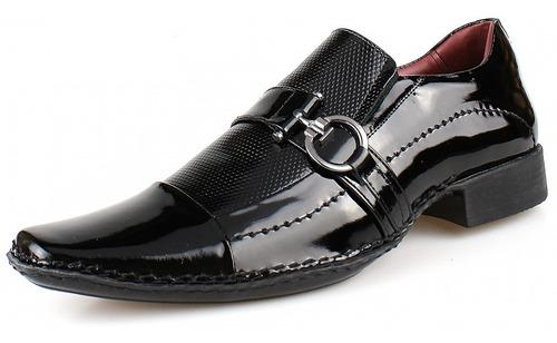 sapato social masculino em couro legítimo franca sapatocia