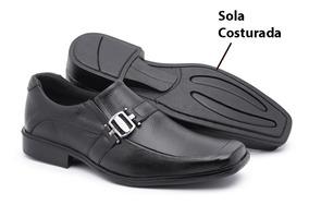 e28141b3b Sapato Social Couro E Costurado Masculino - Sapatos Sociais e ...