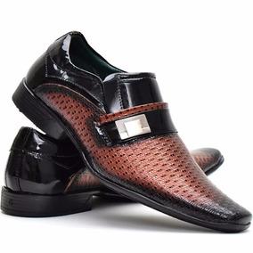 1c7b1b8e9 Sapato Social Brilhante Masculino - Sapatos com o Melhores Preços no  Mercado Livre Brasil