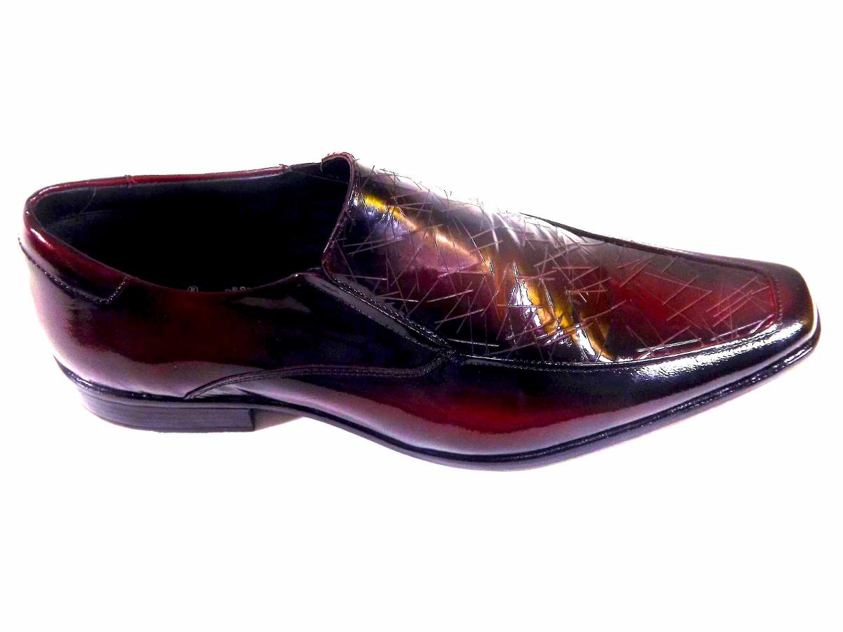 2152f8922 sapato social masculino em couro verniz vinho oferta barato. Carregando  zoom.