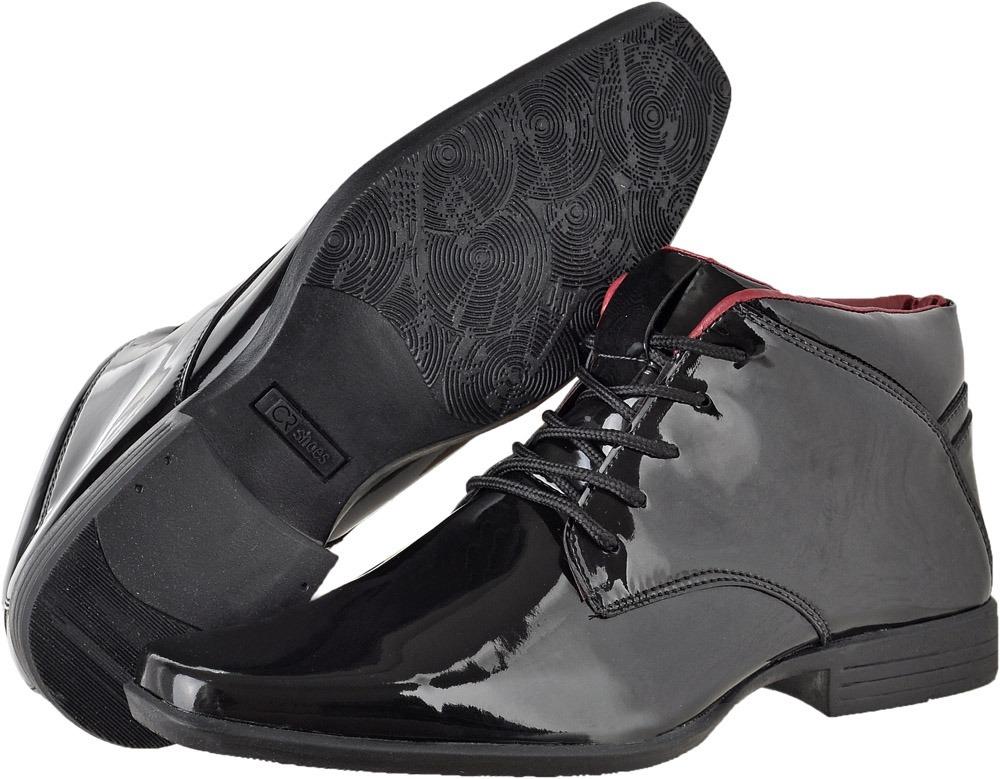 bbbad4723 sapato social masculino estilo bota em couro verniz ref 1398. Carregando  zoom.