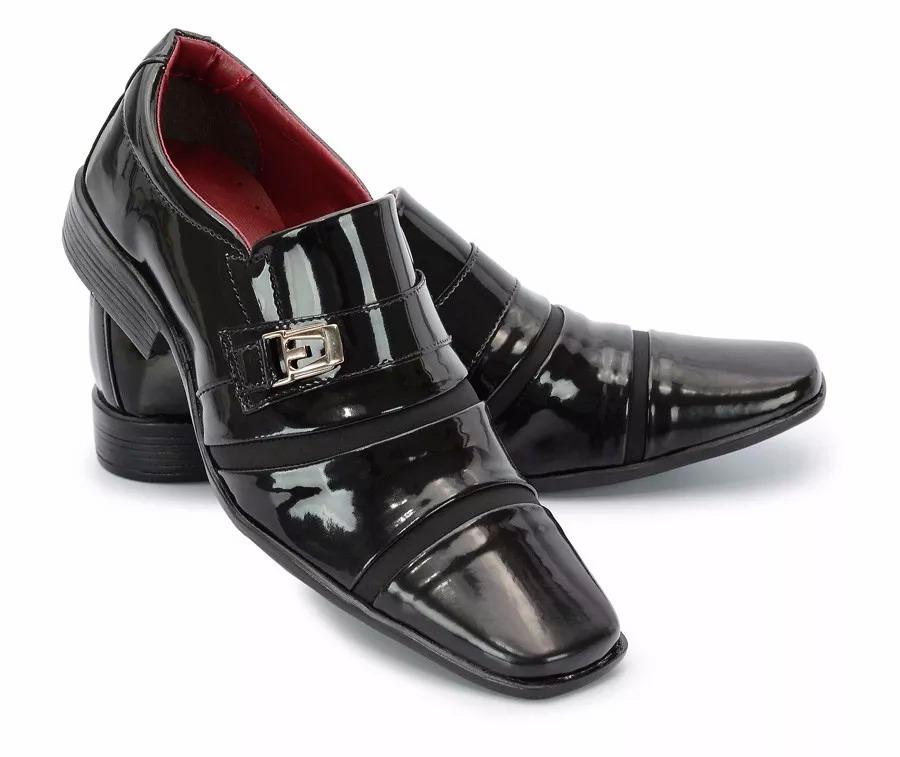 5a7c585922 sapato social masculino estilo italiano couro 803 verniz. Carregando zoom.