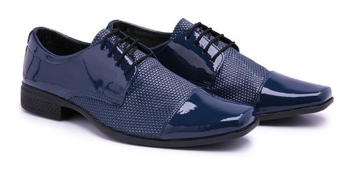 sapato social masculino estilo italiano uniforme brilho 701
