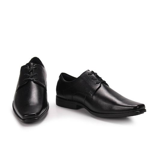 sapato social masculino ferracini braganca - preto