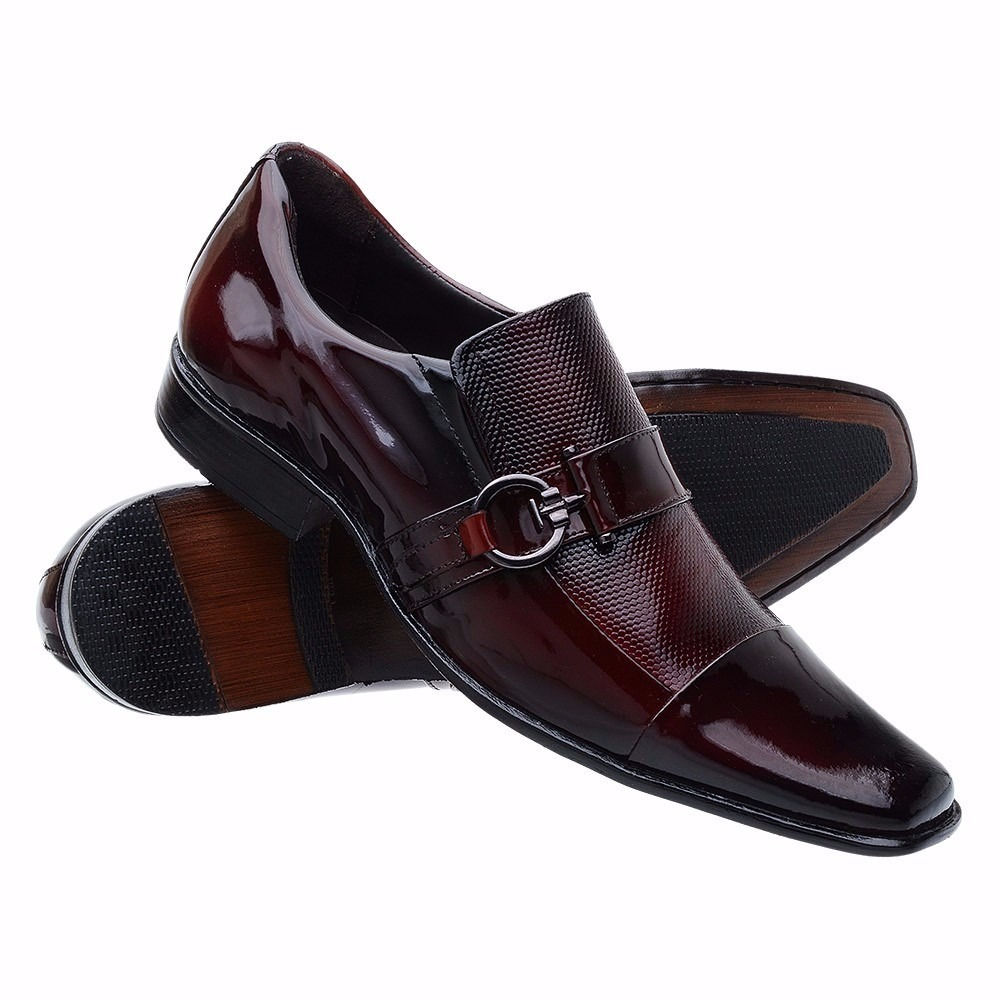 5ef5f21360 sapato social masculino homem bico fino verniz sofisticado. Carregando zoom.