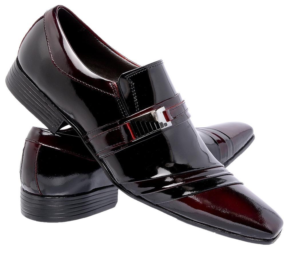 a857a83bea sapato social masculino italiano bico fino preto vinho 7005. Carregando  zoom.