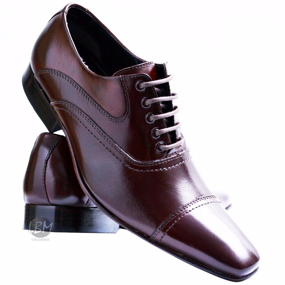 8353d4262c sapato social masculino italiano lançamento marrom bico fino. Carregando  zoom.