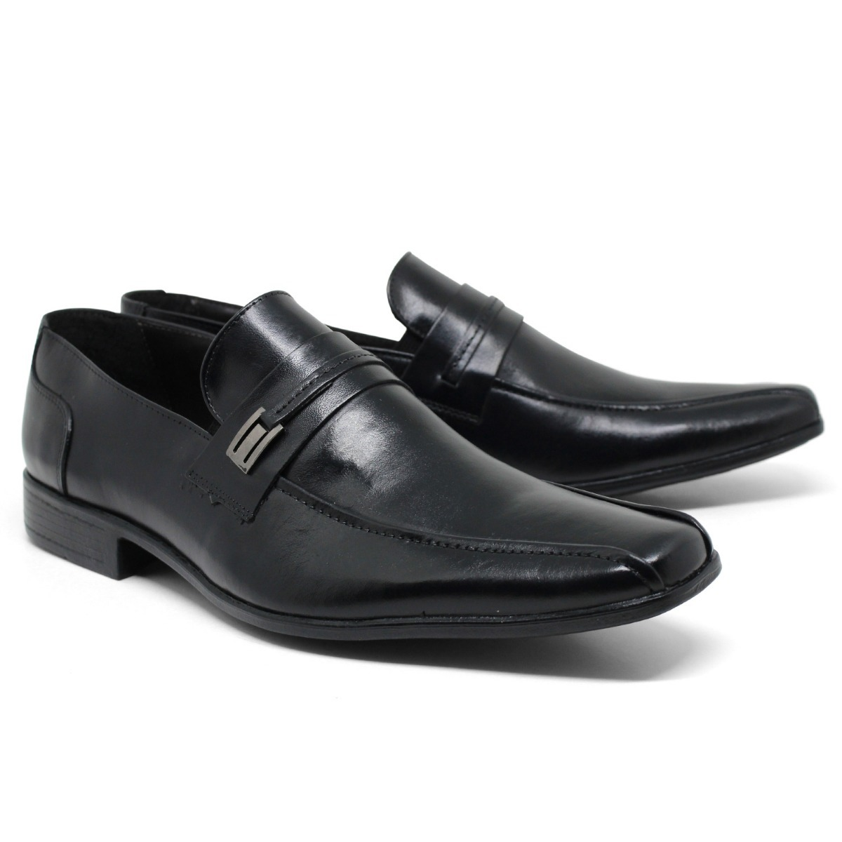 913077bdf8 sapato social masculino leve couro legitimo mocassim fivela. Carregando zoom .