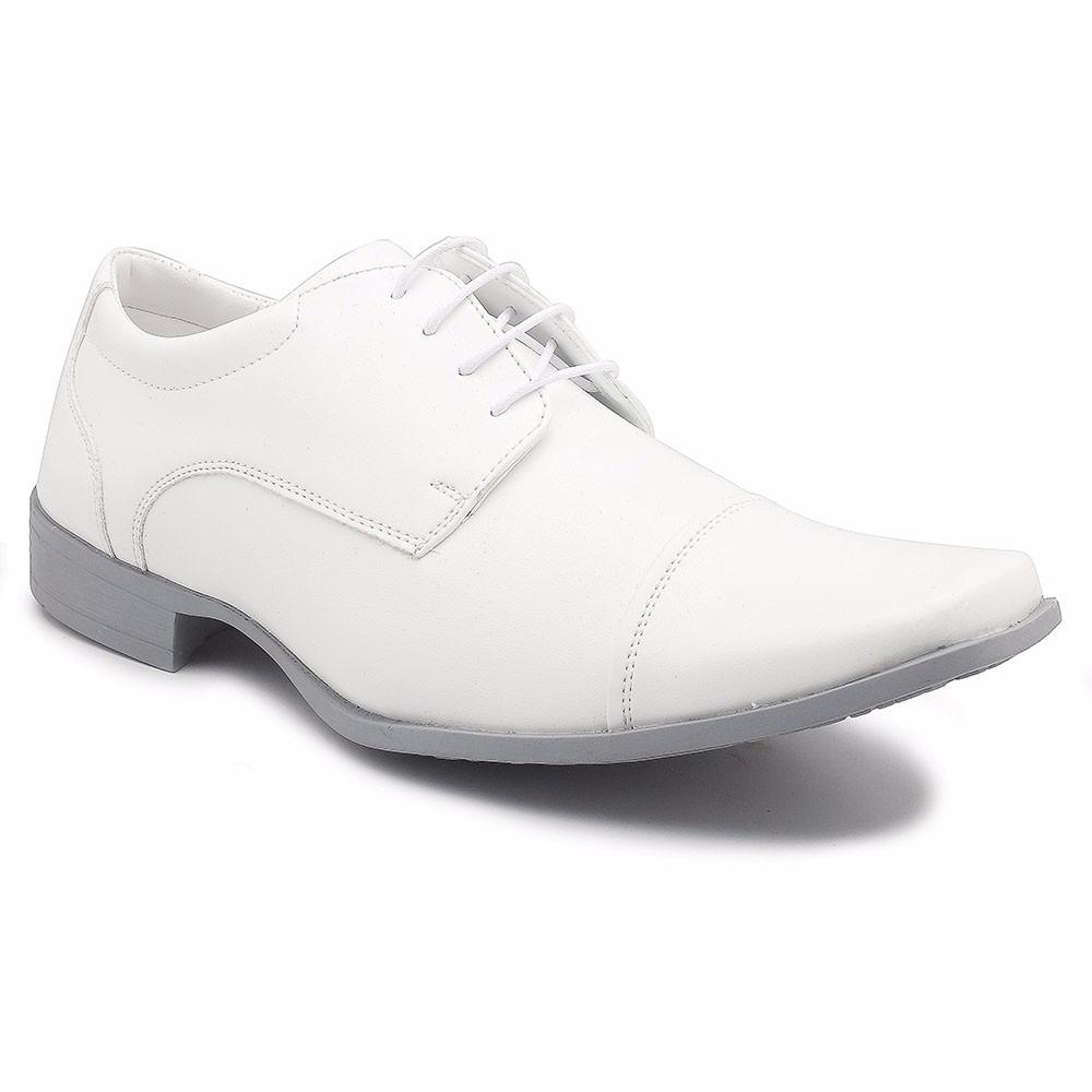 61bb16c73 sapato social masculino mariner branco com cadarço 73054-1. Carregando zoom.