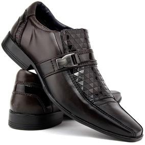 a2b3a6f1a Sapato Social Masculino Marron Luxo Lançamento Dhl Franca