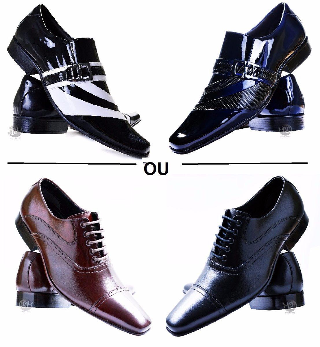 23a4b2563 Sapato Social Masculino No Atacado 2 Pares Promoção - R$ 319,79 em ...