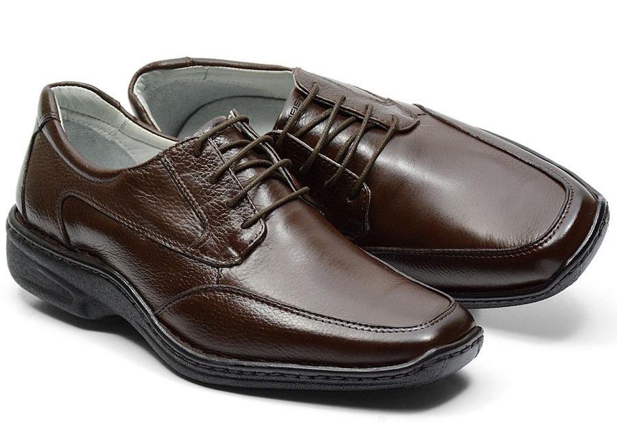 d1f5024af sapato social masculino ortopédico de amarrar chocolate 1825. Carregando  zoom.