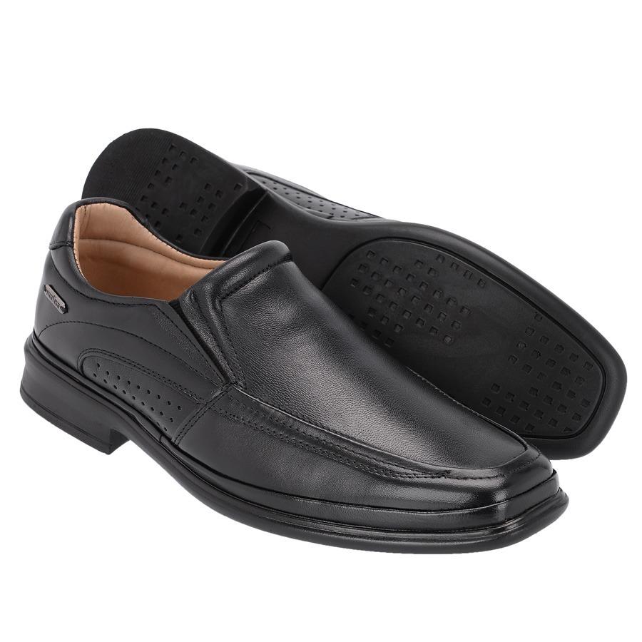 c56bae9de sapato social masculino ortopédico ultra leve preto 5201. Carregando zoom.