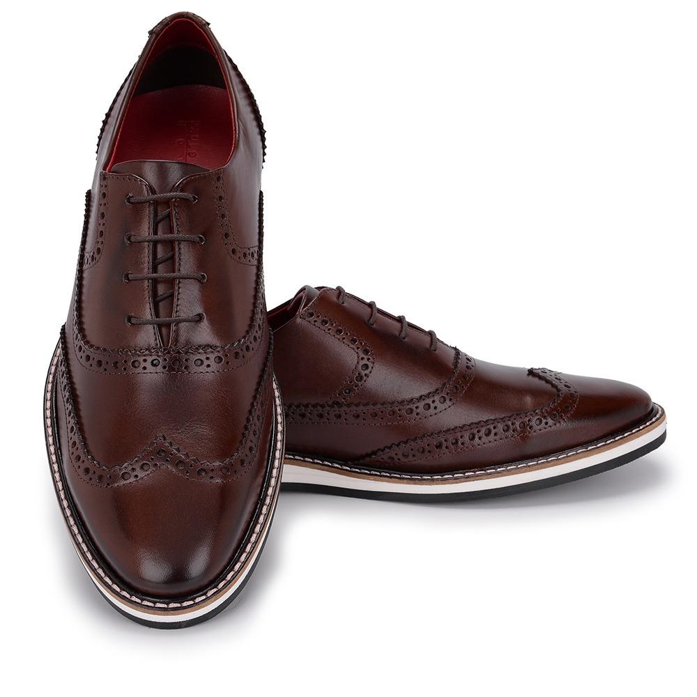 c43203e745 Sapato Social Masculino Oxford Modelo Inglês Luxo Couro 046 - R  189 ...