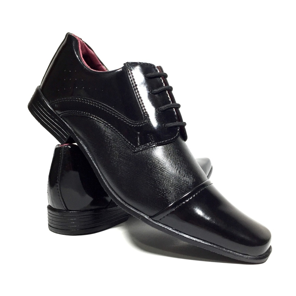 22128d9426 sapato social masculino para casamento muito barato preto e. Carregando  zoom.