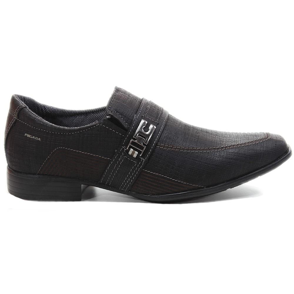 ab47e7914 sapato social masculino pegada couro nobuck preto 23202. Carregando zoom.