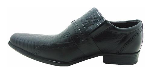 sapato social masculino perlatto 3555portland em couro preto