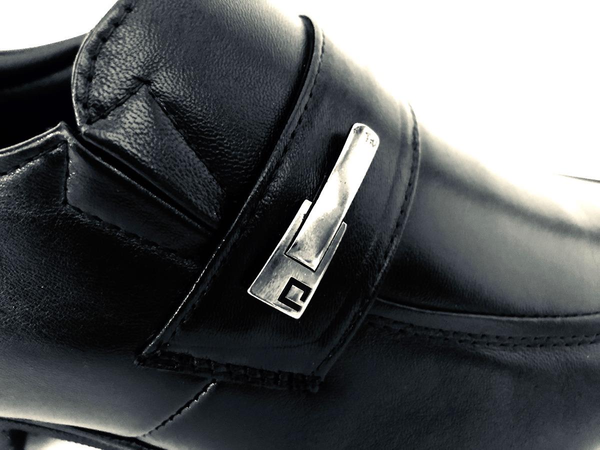 b3ef46cd6 sapato social masculino pipper duke couro preto + nf. Carregando zoom.