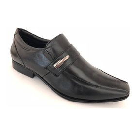 Sapato Social Masculino Pipper Duke Couro Preto Super Leve