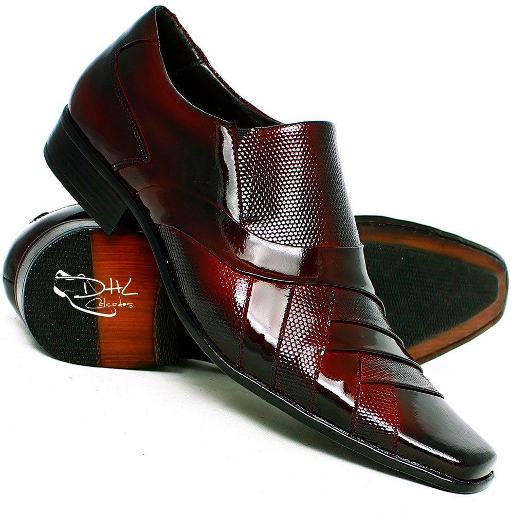 711aa31f2 sapato social masculino presente verniz promoção couro dhl. Carregando zoom.
