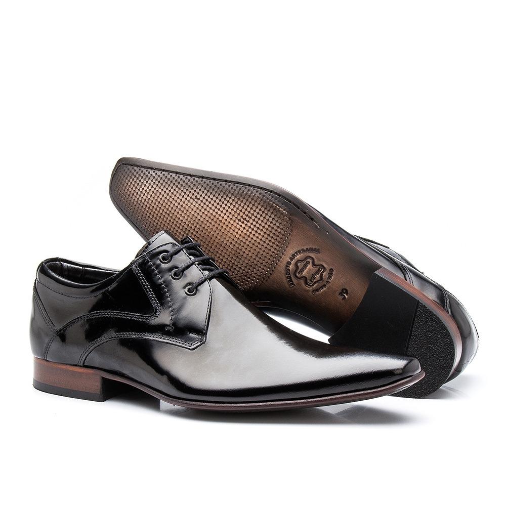 dc9acde33 sapato social masculino preto verniz sola de couro luxo 379. Carregando  zoom.