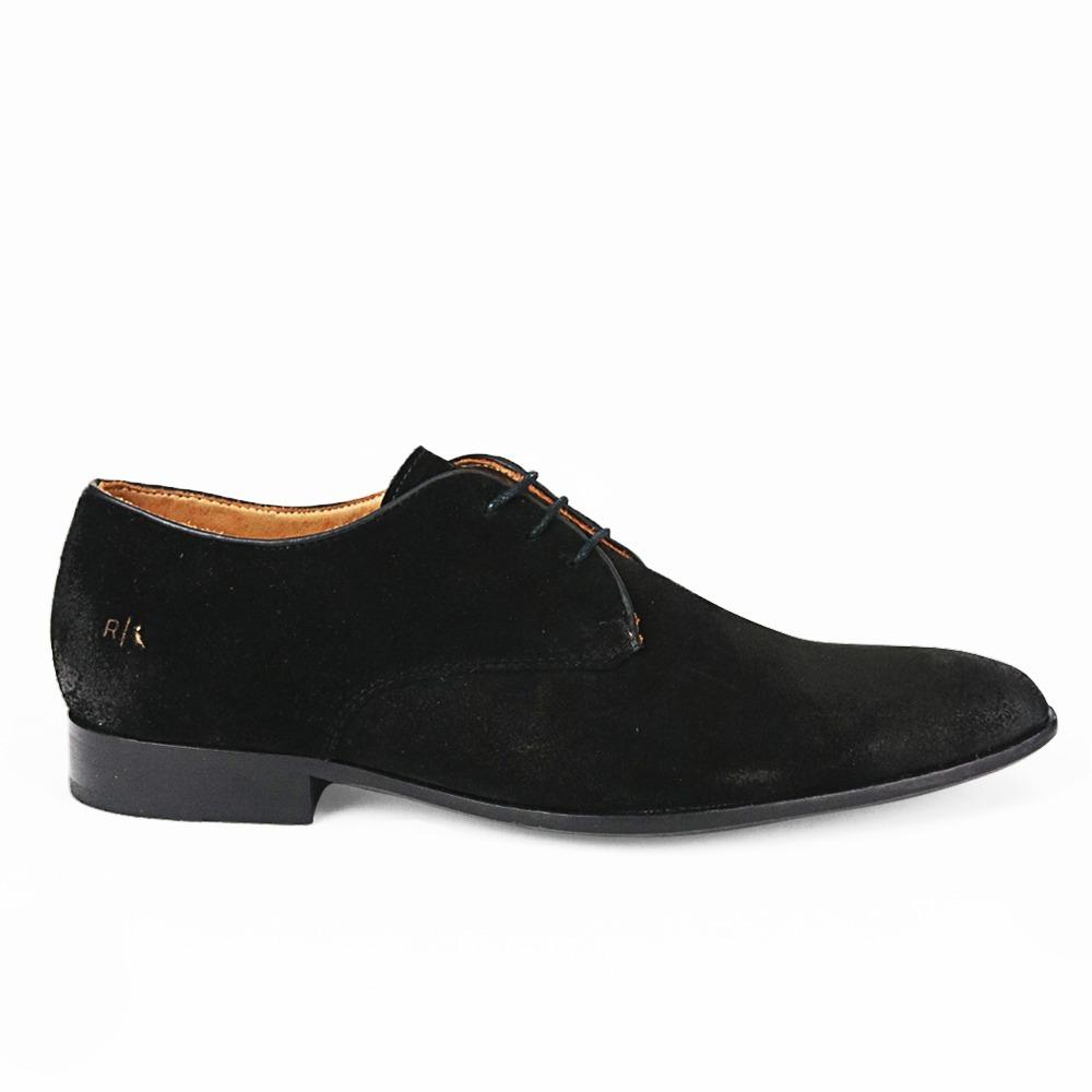e9a8e7a43 Sapato Social Masculino Reserva Preto De Camurça Original - R$ 449 ...