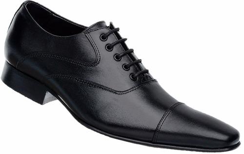 sapato social masculino tipo italiano bico fino longo couro