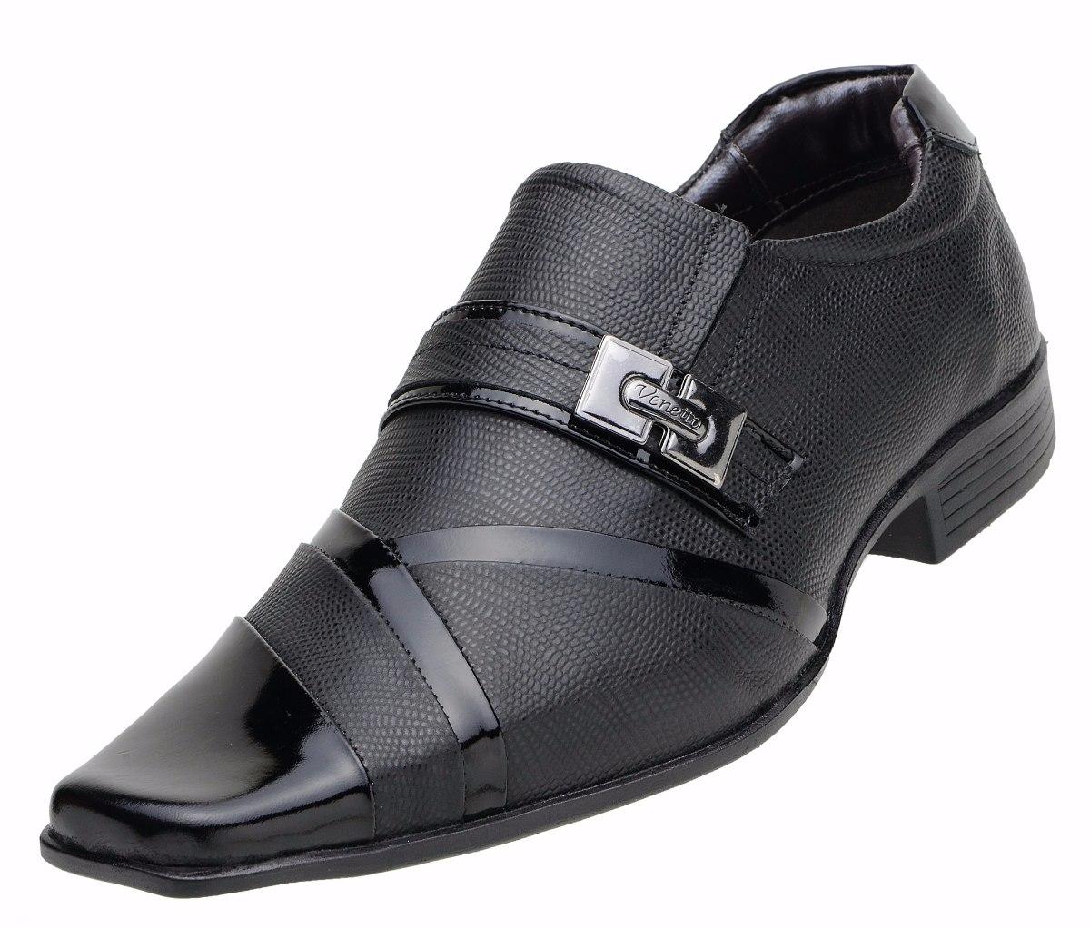 0594af59a Sapato Social Masculino Venetto Couro Legítimo - 8126 - R$ 119,90 em ...