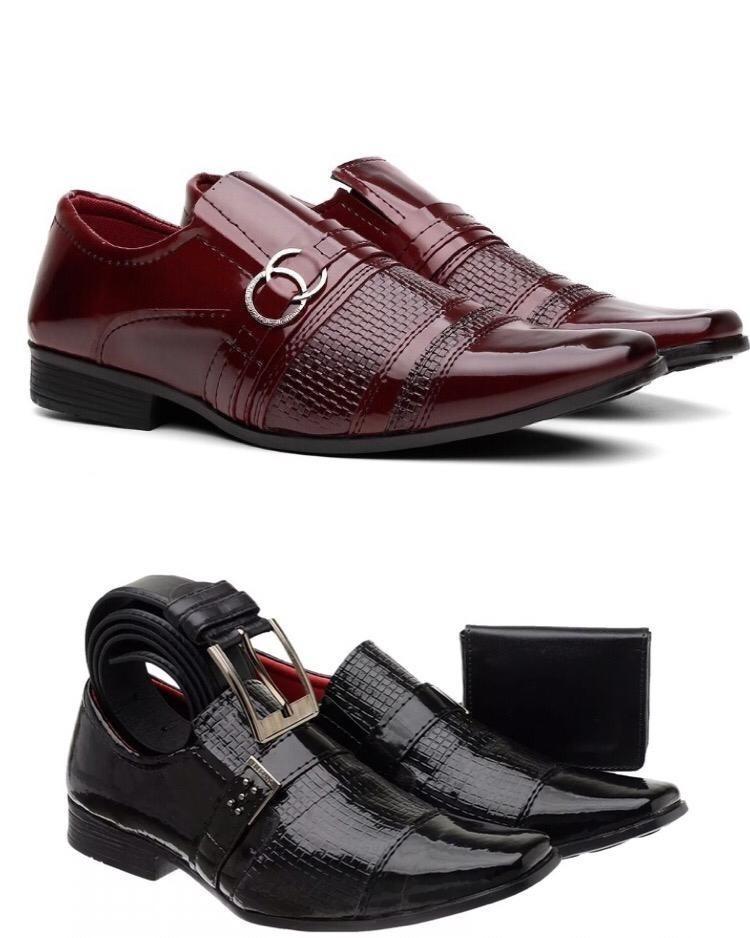 9f7ae6e19 sapato social masculino verniz + brinde mega promoção. Carregando zoom.