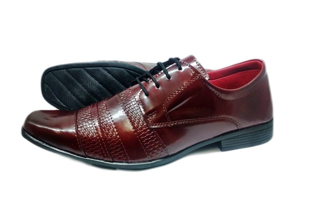 909687a9b sapato social masculino verniz cardaço vinho com cinto. Carregando zoom.