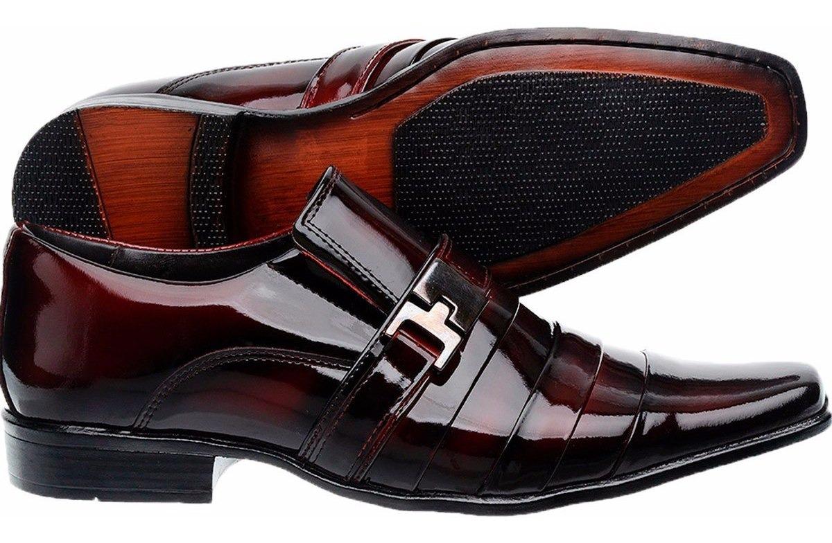 6244f3d0b Sapato Social Masculino Verniz + Cinto Vinho - R$ 219,00 em Mercado ...