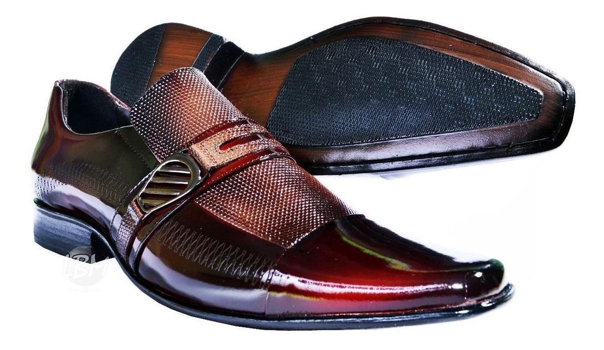 302f4a6010 sapato social masculino verniz lançamento 100%couro legítimo. Carregando  zoom.
