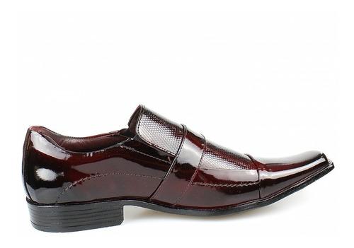 sapato social masculino verniz luxo executivo lançamento