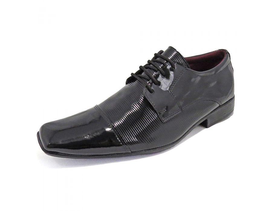 eb5ee120c775d sapato social masculino verniz preto - la faire at50. Carregando zoom.