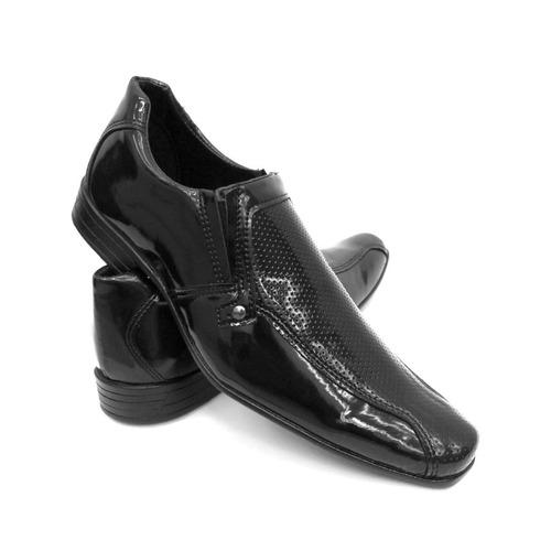 b040e188c Sapato Social Masculino Verniz Promoção Kit 2 Pares Atacado - R$ 98 ...