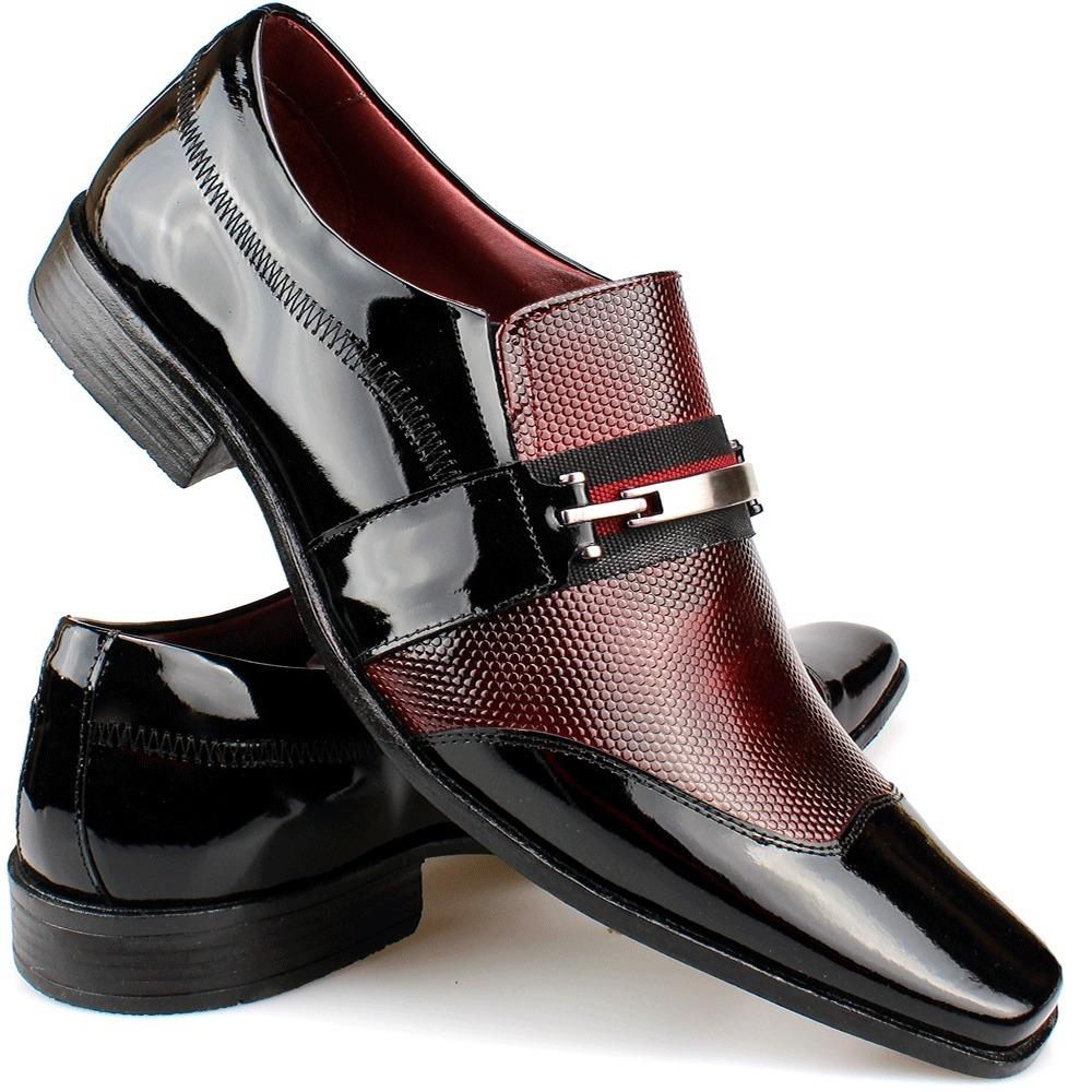 30101362a8 sapato social masculino verniz red vinho preto lançamento. Carregando zoom.