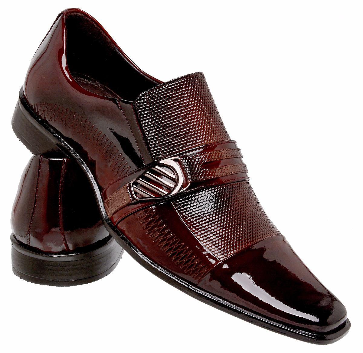 0be155e7af sapato social masculino verniz vermelho couro legítimo. Carregando zoom.