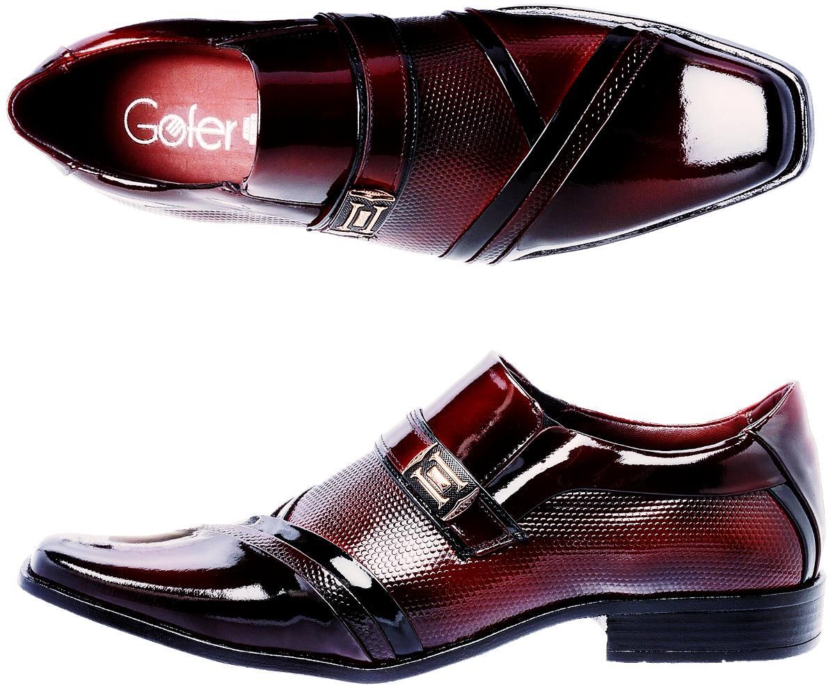f75e16a78 Sapato Social Masculino Verniz Vermelho Mais Cinto - R$ 212,93 em ...