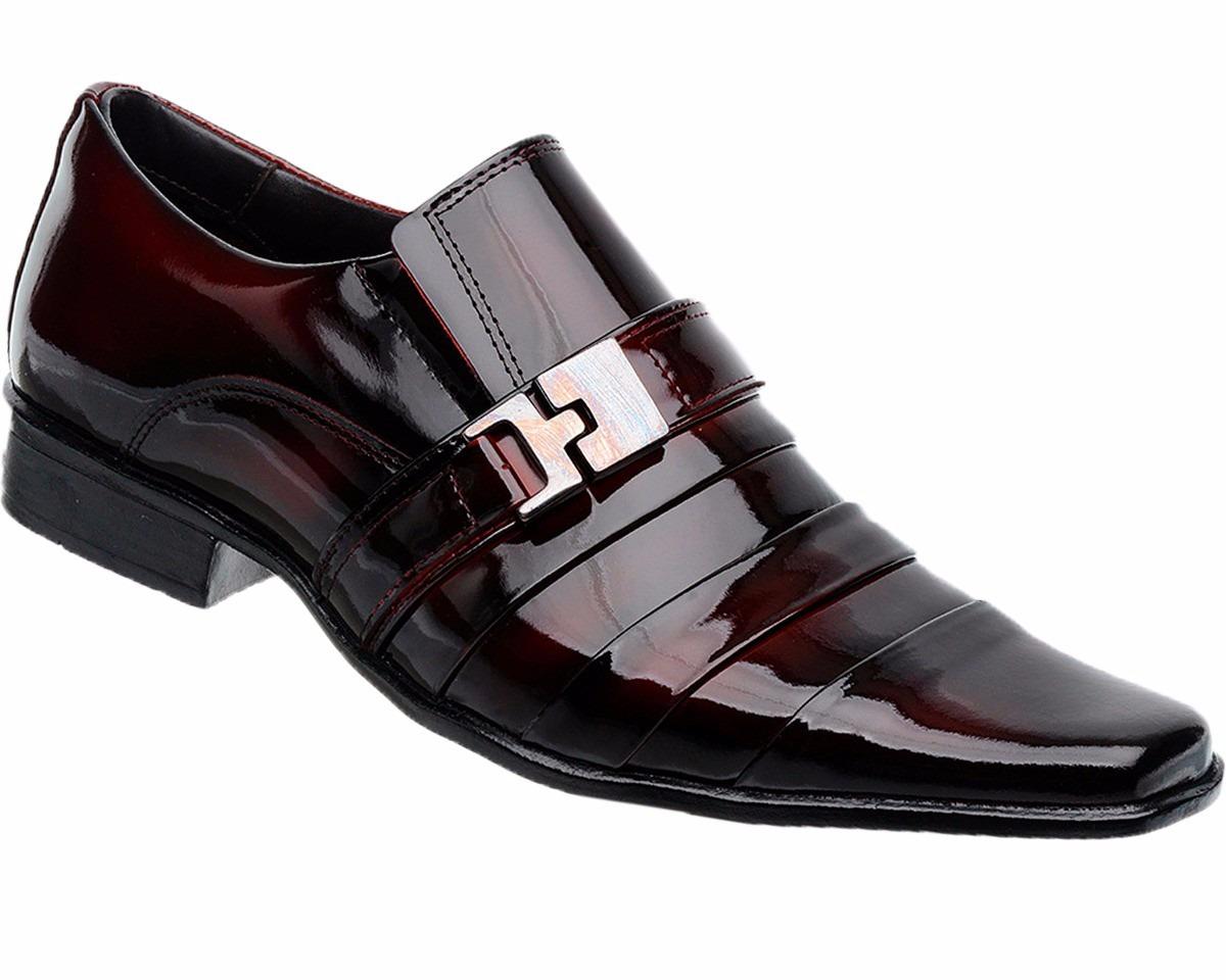 e2d4449920 Sapato Social Masculino Verniz Vinho + Cinto - R$ 199,98 em Mercado ...