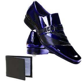 d0e02193f0 Sapato Social Gofer Moderno Italiano Couro - Sapatos para Masculino Azul  com o Melhores Preços no Mercado Livre Brasil