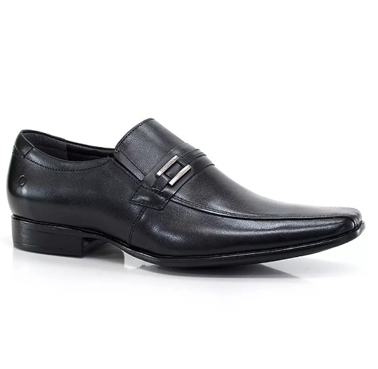 4e6c1d88c Sapato Social Número 39 Democrata Premier Couro Legítimo - R$ 139,00 ...
