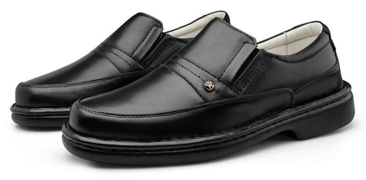 3f656da90f Sapato Social Ortopedico Couro Pelica Solado Antistress - R  159
