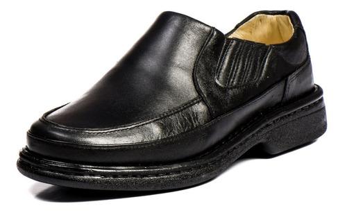 sapato social ortopédico masculino anti stress 100% couro