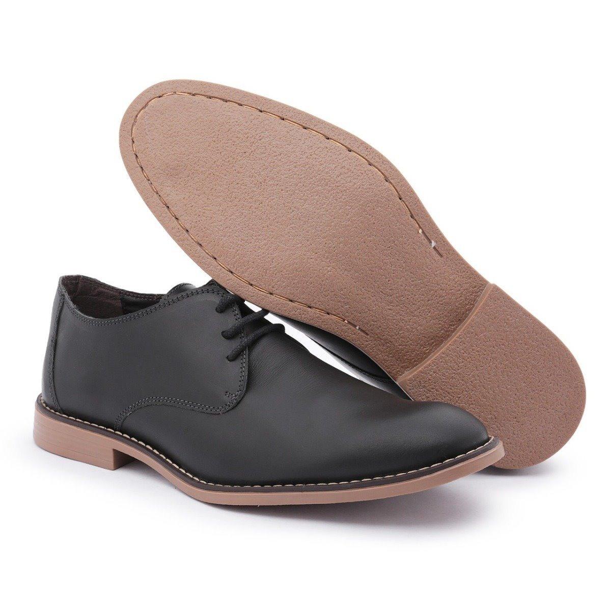 825198b01 Sapato Social Oxford Casual Masculino Couro Legítimo - R$ 129,90 em Mercado  Livre