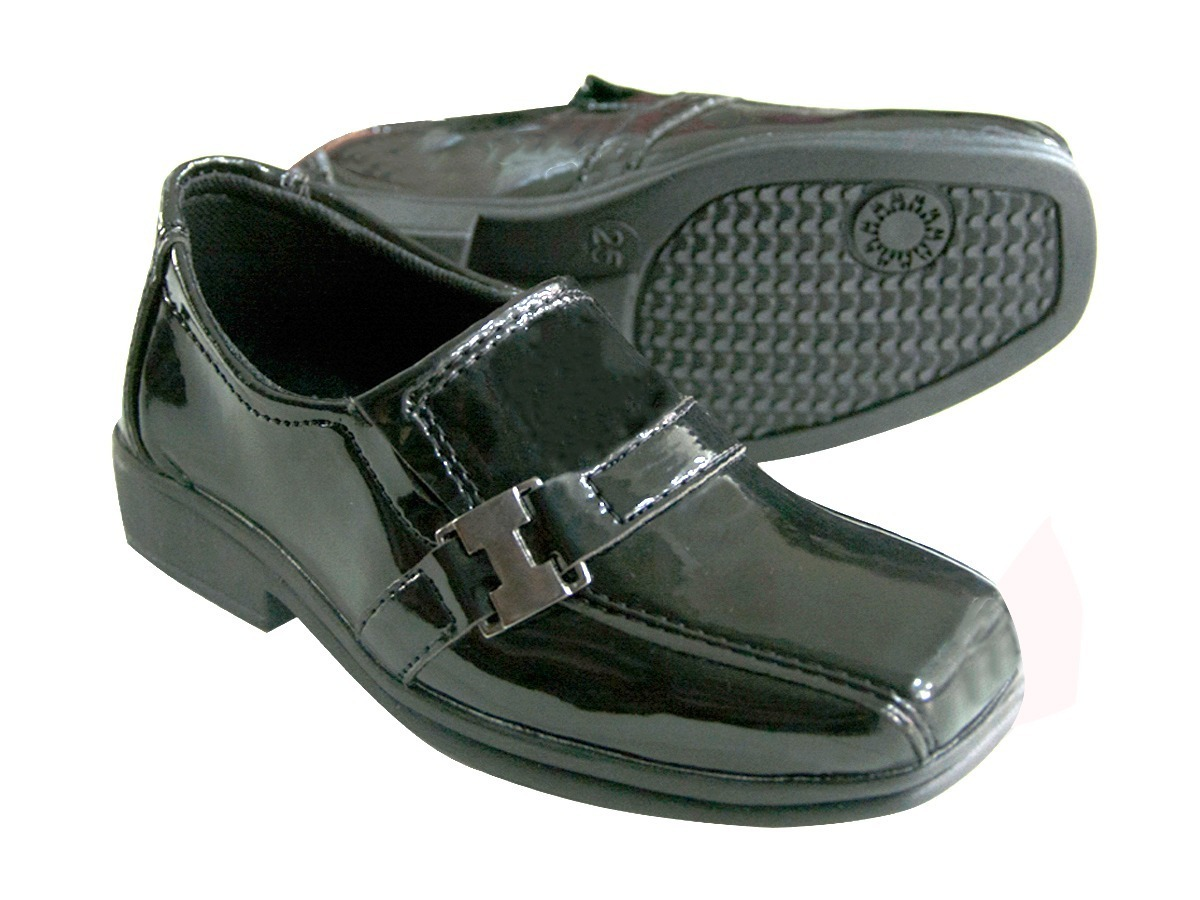 61356c1a4 Sapato Social Pajem Noivinho Crianças - R$ 54,75 em Mercado Livre