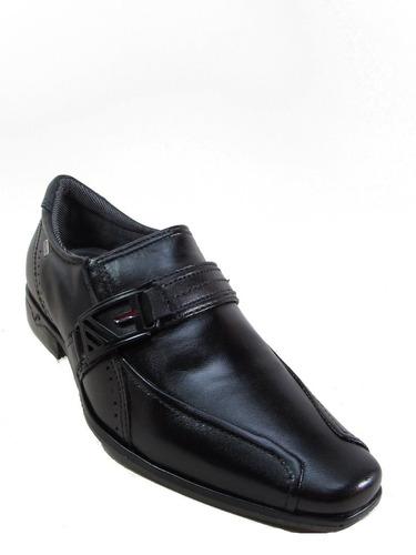 sapato social pegada 22217-01 mestiço preto .nova coleção