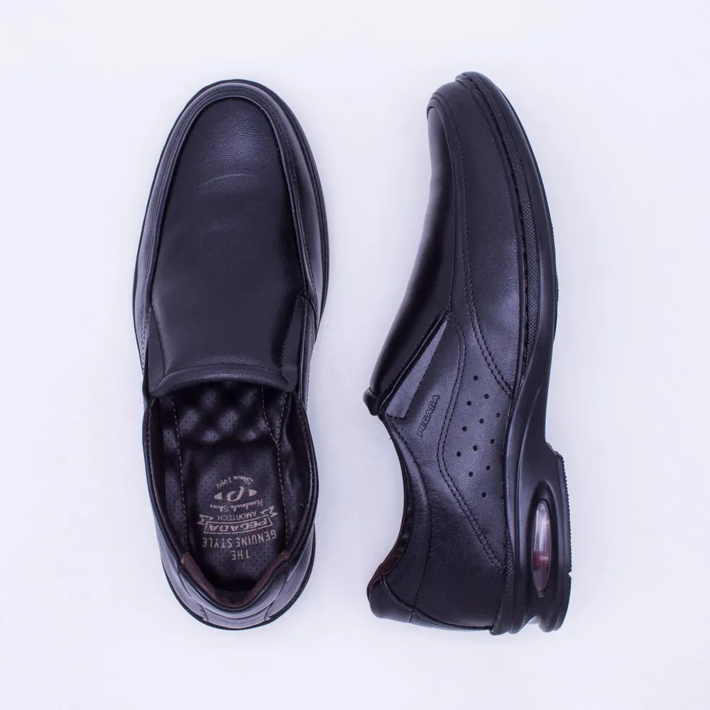 d86c848e9a sapato social pegada masculino couro - preto 123301-01. Carregando zoom.