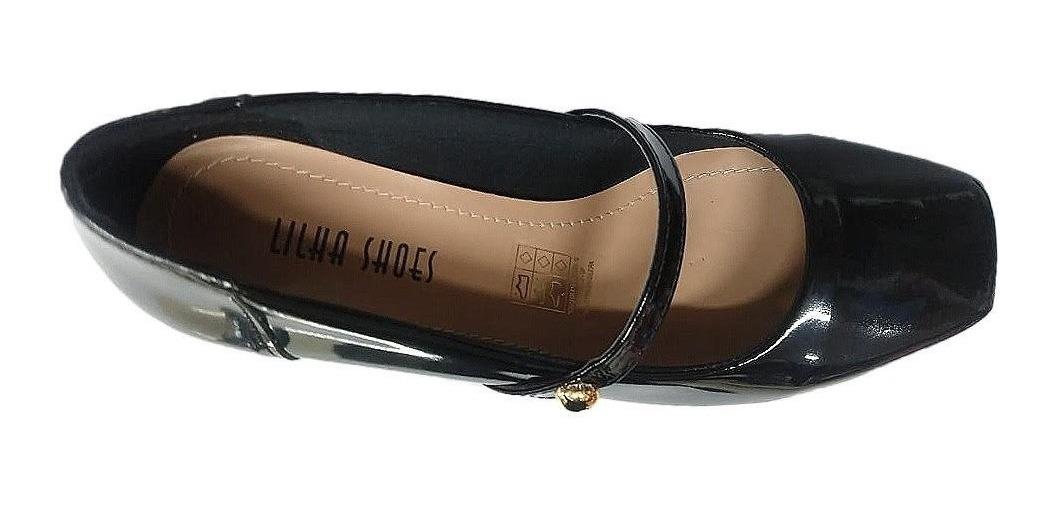 000c111a1a sapato social salto baixo grosso feminino confortavel 4011. Carregando zoom.